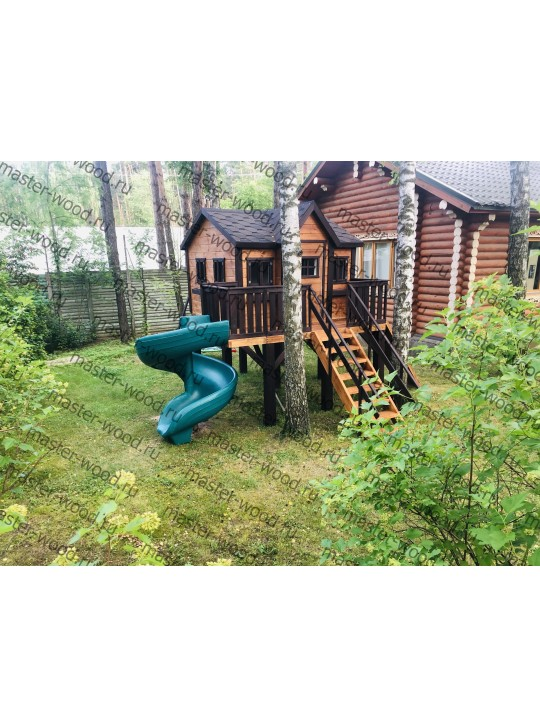 Деревянный домик на ножках с рукоходом XXL 18