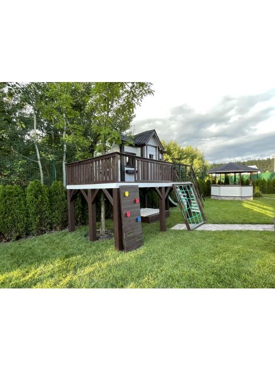 Детский деревянный домик 018 плюс