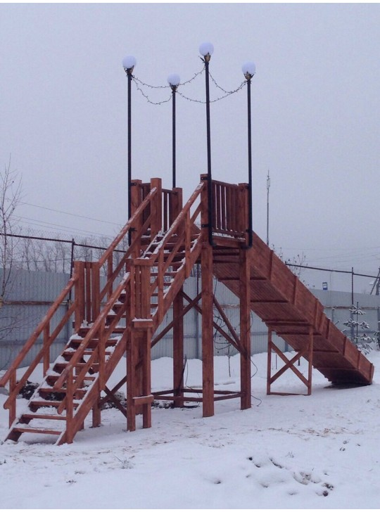 Горка игровая зимняя модель ГИ-0011