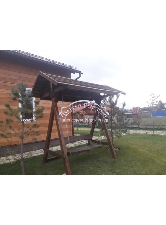 Качели садовые c крышей