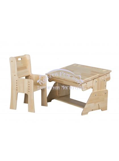 Парта детская из дерева комплект